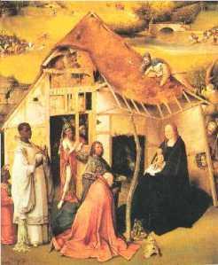 La adoración de Bosch (1510); Baltasar ya es negro